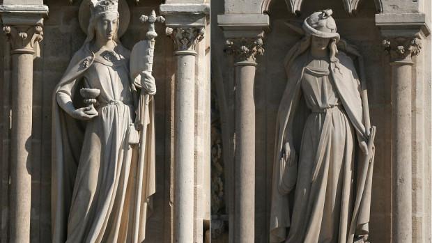 l'Eglise eet la synagogue voilée, Notre-Dame d eParis