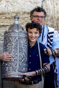Bar mitsvah at the western wall, Jerusalem, israel.