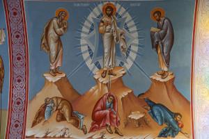 Fresco in Holy cross church; Pedoulas. Transfiguration.