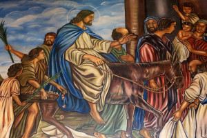 Entry of Christ into Jerusalem. St. Peter and Paul Cathedral.