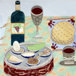 Jewish Museum of Switzerland. Basel.  A table set up for a Passover Seder.