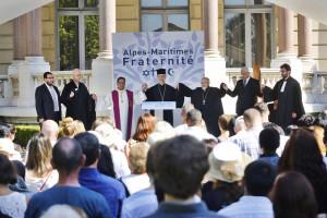 Cérémonie interreligieuse en hommage aux victimes et famille de victime de la barbarie du 14 juillet 2016.