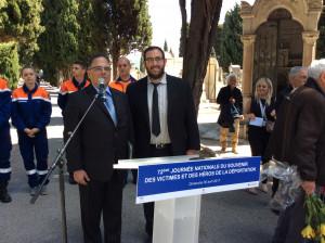 Commémoration nationale des crimes antisémites de l'État français, à la gare SNCF de Nice